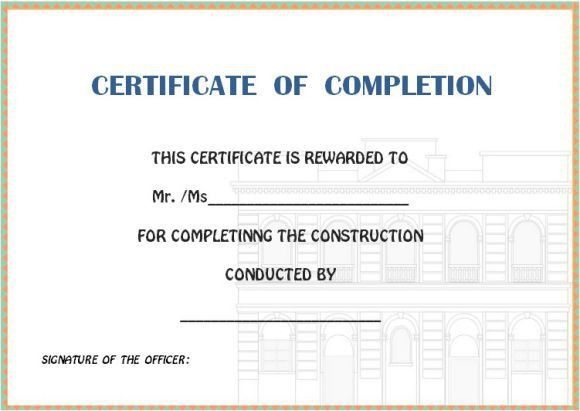 Certificate of completion template : 55+ Word Templates [Editable ...