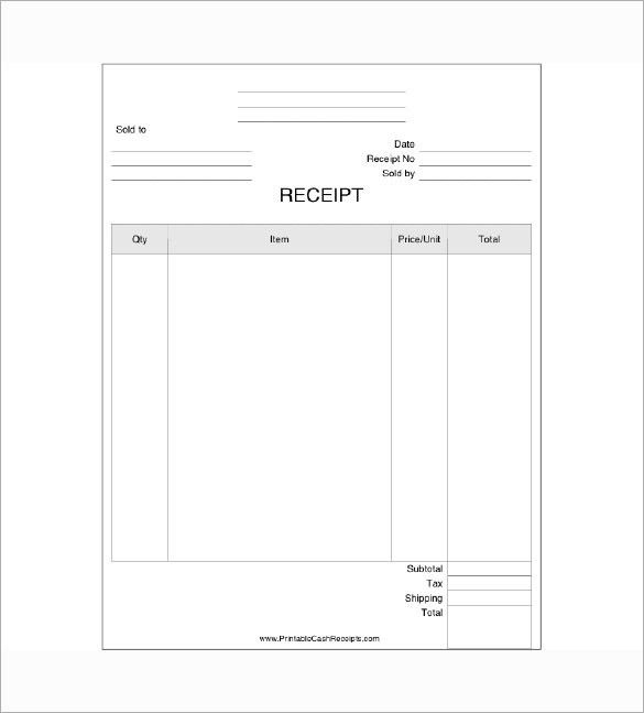 Business Receipt Template – 7+ Free Word, Excel, PDF Format ...