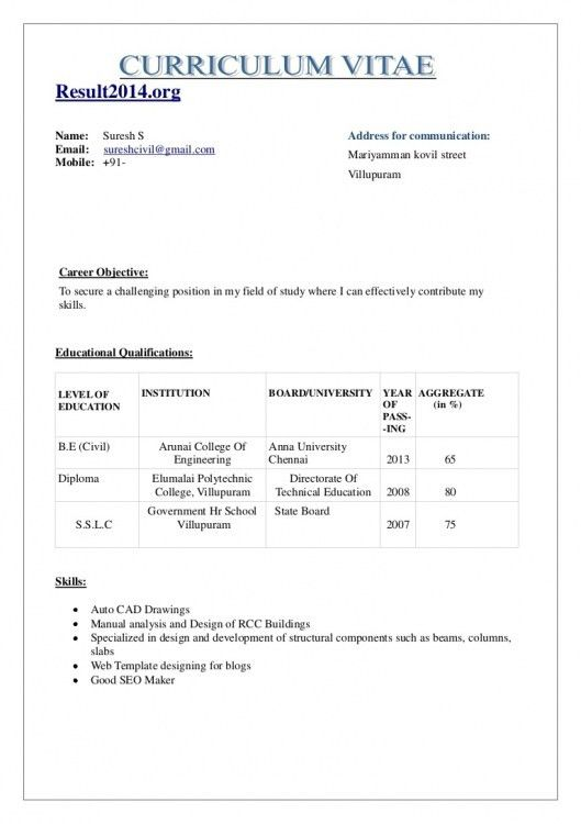 8 cv writing format for freshers event planning template. fresher ...