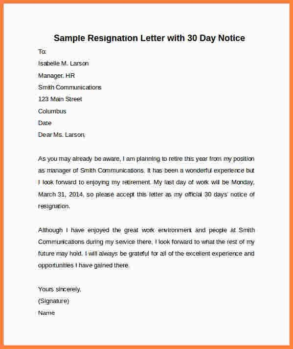 4+ sample of a 30 day notice to move letter | Second Notice Letter