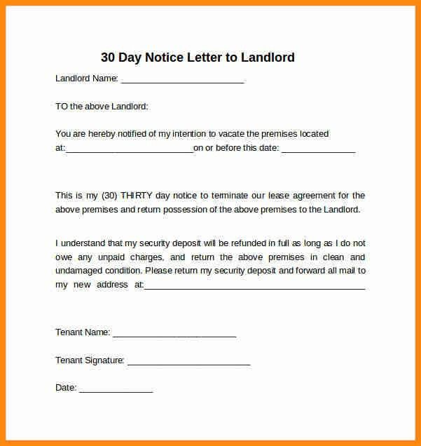 9+ 30 day notice to landlord sample letter | driver-resume