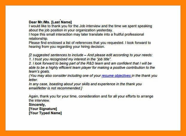 8+ thank you for the job opportunity | informal letter
