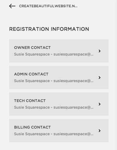 Squarespace Help   Managing Domain Contact Information  Official Change Of Address Form