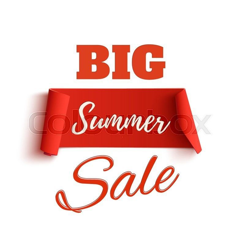 Big summer sale poster template, isolated on white background ...