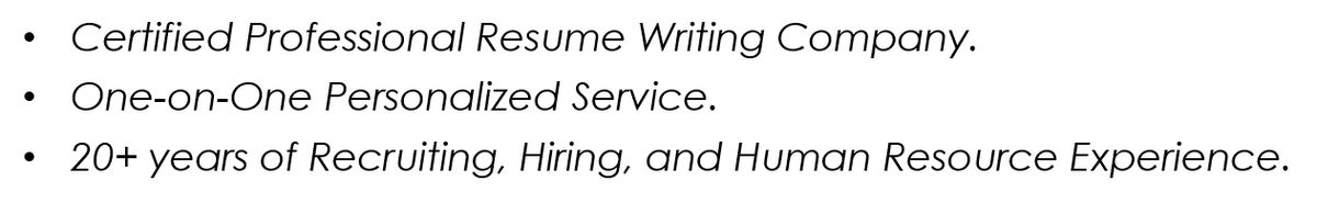Executive Resume Writing Service | Resumes by Joyce®