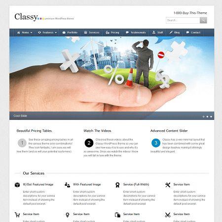 Classy Premium Business WordPress Theme