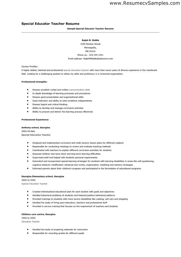 sample teacher resumes substitute teacher resume sample teacher ...
