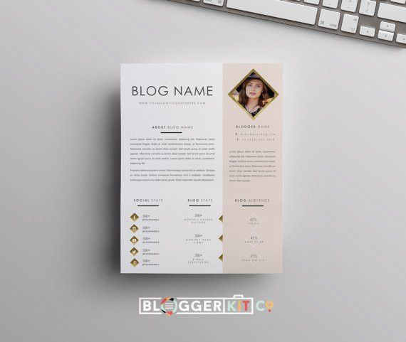 One-Page Media Kit Template Press Kit Template Electronic