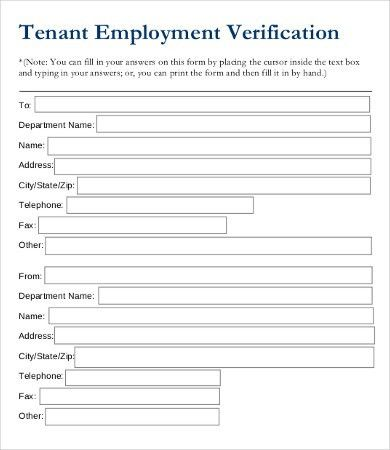 Employment Verification Form - 9+ Free Word, PDF Documents ...