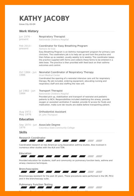 Respiratory Therapist Resumes Examples. Physical Therapist Resume .