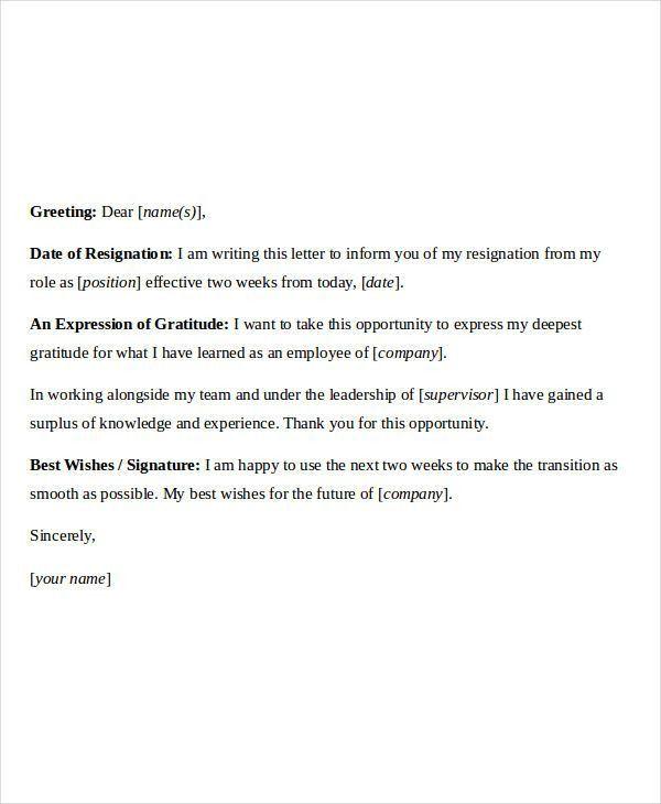 Membership Resignation Letters - 6+ Free Sample, Example, Format ...