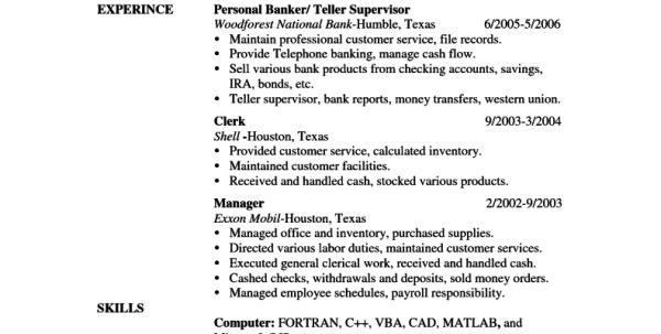 Banking Skills To Put On Resume Banking Investment Resume Template ...