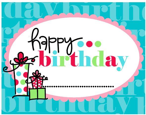 Card Invitation Design Ideas: Free Printable Happy Birthday Card 4 ...