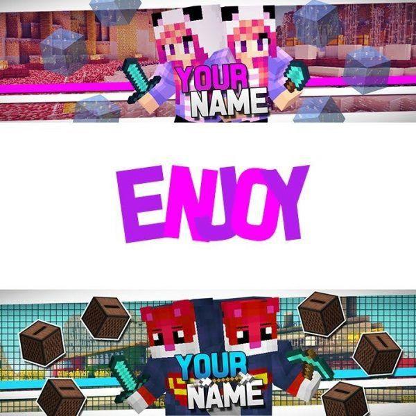 Minecraft   2 Youtube Channel/banner Templates!   Photoshop Cs6/cc ...