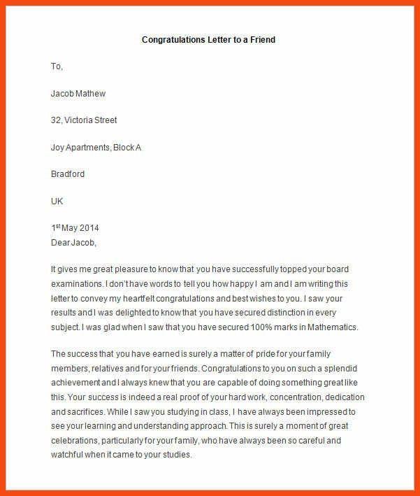 letter for friend | program format