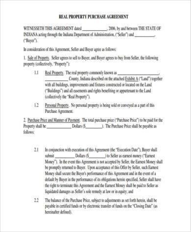 Sample Generic Purchase Agreement Forms - 8+ Free Documents in ...