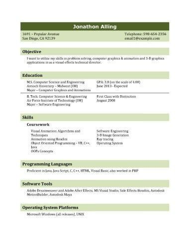 Sample Resume For Fresh Graduate | jennywashere.com