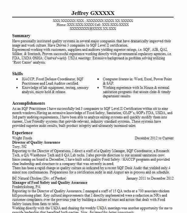 Best Quality Assurance Resume Example | LiveCareer
