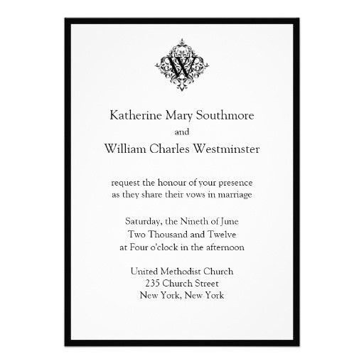 27 Sample Wedding Invitation Wording From Bride And Groom | Vizio ...