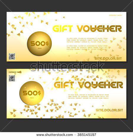 Glitter Sparkles On White Background Voucher Stock Vector ...