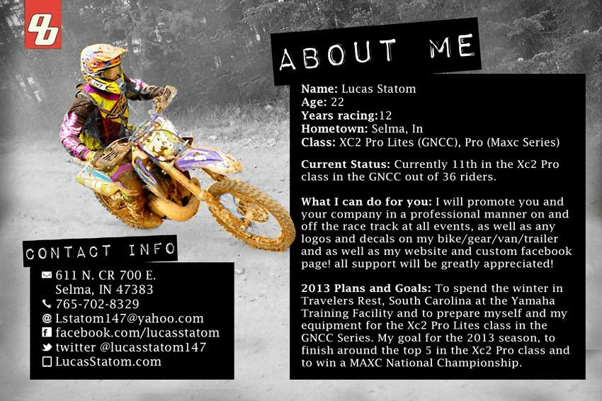 Free Motocross Sponsorship Resume Template Resumes Co Example Mike