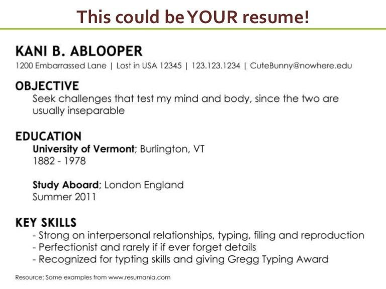 Writing An Effective Resume 22 Read A Job Description To Write ...