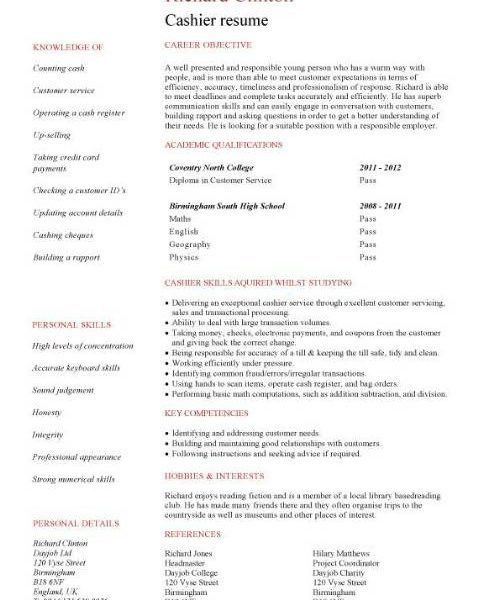 Download Cashier Resume Sample | haadyaooverbayresort.com
