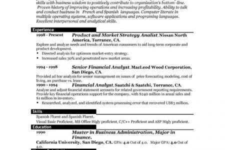 Download Kellogg Resume Format   haadyaooverbayresort.com