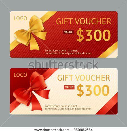 Gift Voucher Template Announcement Winning Vector Stock Vector ...