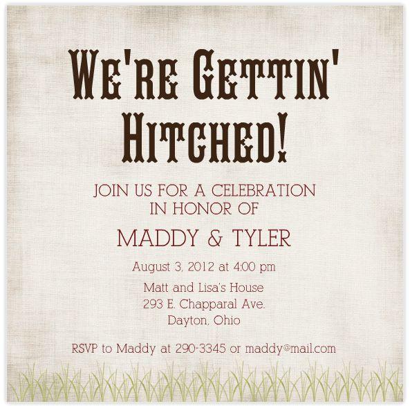 Cool Engagement Party Invitations | almsignatureevents.com