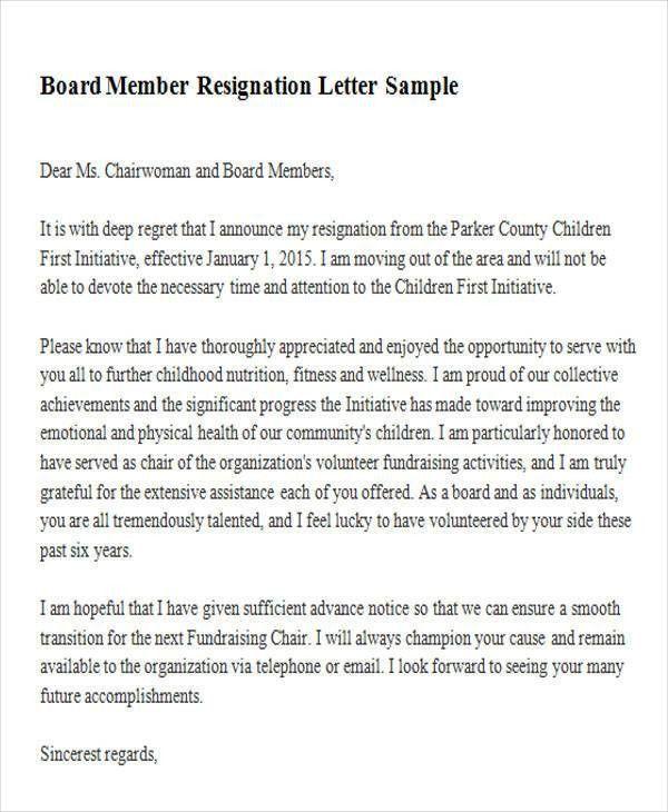 Sample Membership Resignation Letter - 5+ Examples in PDF, Word
