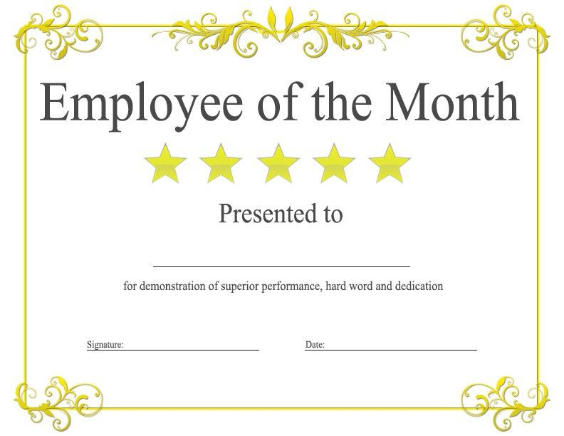 Employee Of The Month Template | Best Business Template