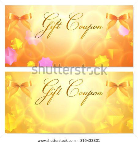 Gift Card Template Corrugated Texture Gift Stock Vector 129871862 ...