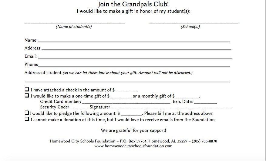The Grandpals Club | Homewood City Schools Foundation