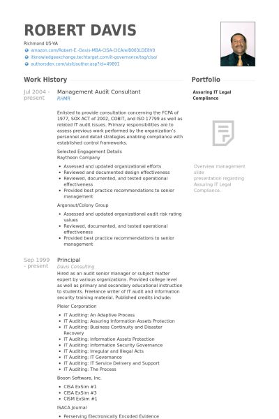 It Consultant Resume Cover Letter - Sample Personal Protection Consultant Resume