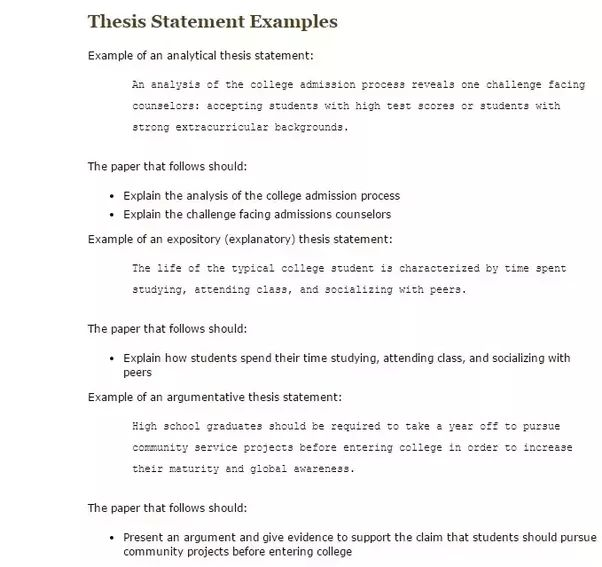 How long should a thesis statement be? - Quora