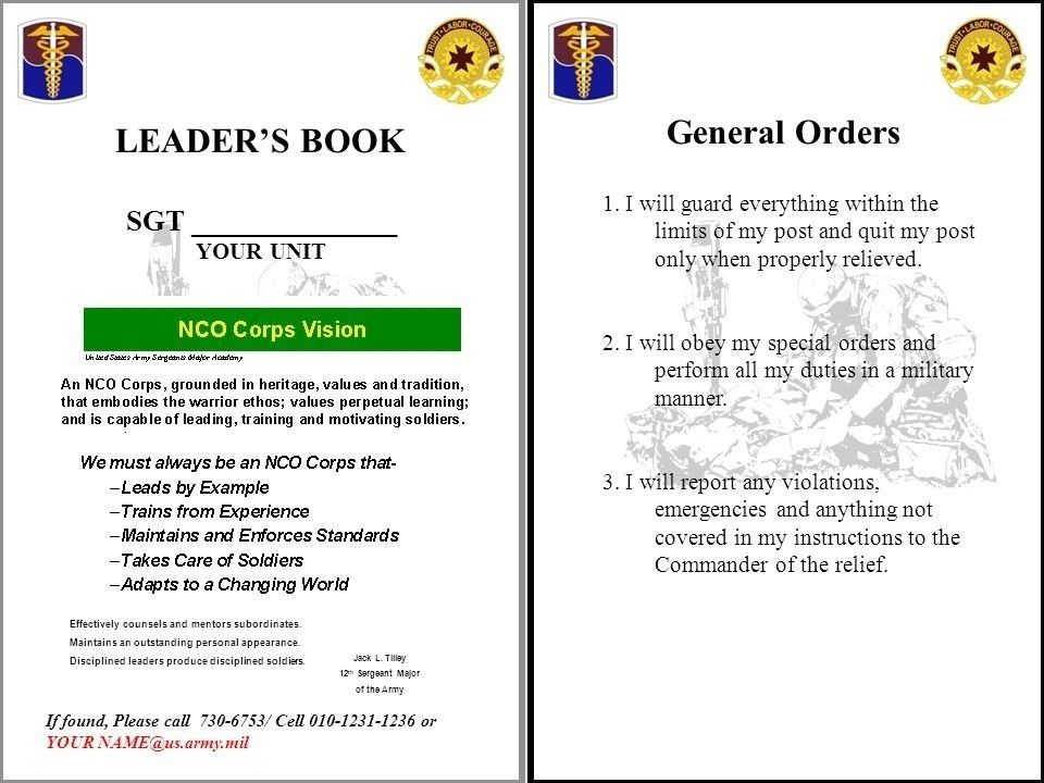 Army Leaders Book Template | aplg-planetariums.org