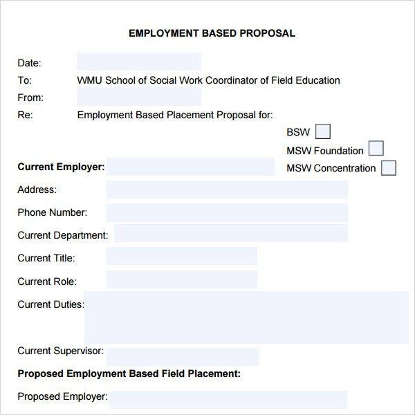 Job Proposal Template. Business Proposal Template 05 30+ Business ...