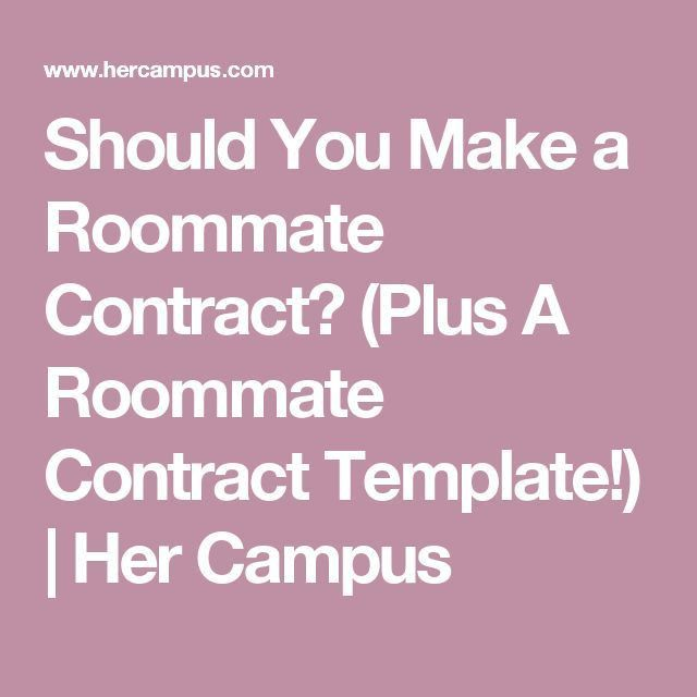 Best 25+ Roommate contract ideas on Pinterest | College roommate ...