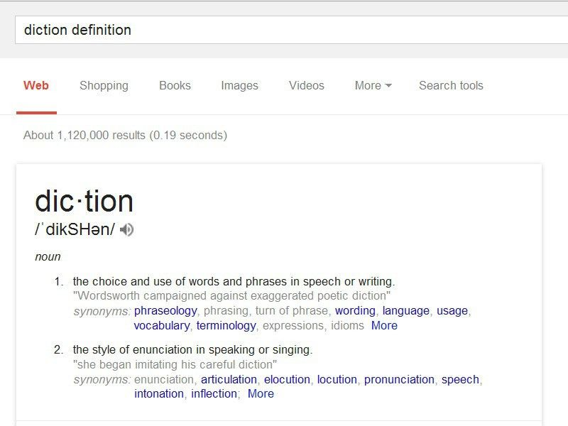 Diction |