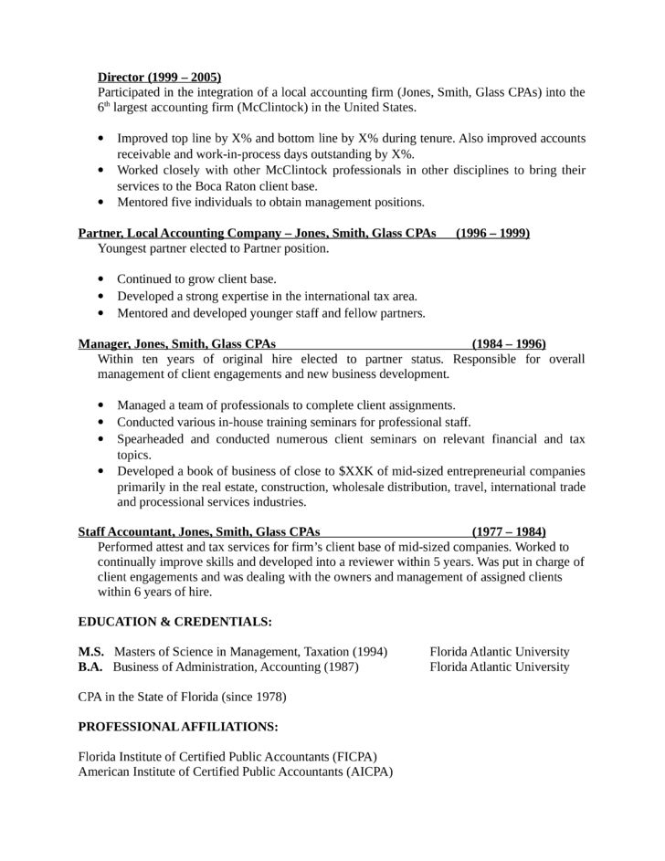 Cover letter to accounting firm