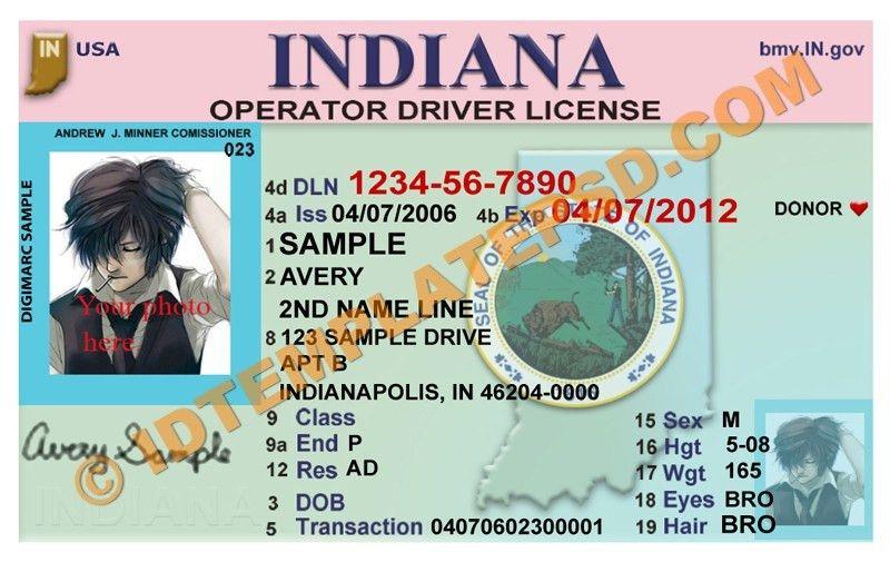 Indiana Drivers License - Indiana Drivers License PSD | Drivers ...