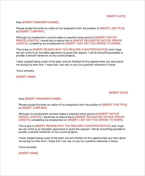 Letter of Resignation - 51+ Examples in Word, PDF