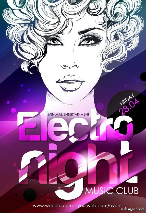 4-Designer | Fashion female model posters 01 vector material
