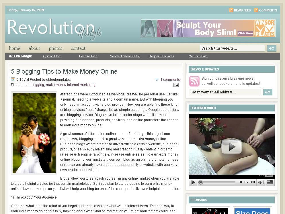 Free Blogger Templates & Premium WordPress Themes | eBlog Templates