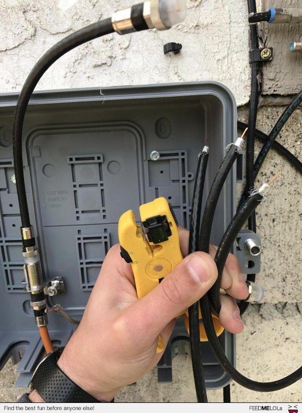 FeedMeLols.com - Like many budding low voltage electricians, I ...