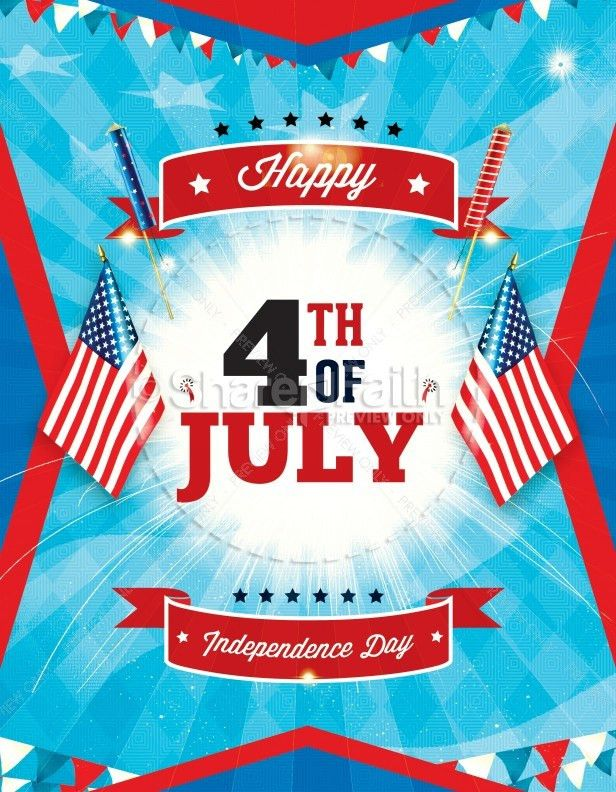 Independence Day 4th of July Religious Flyer Template | Flyer ...
