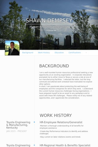 Employee Resume samples - VisualCV resume samples database