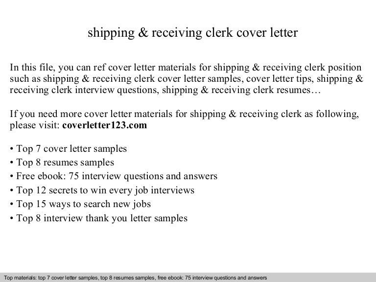 top 5 receiving clerk cover letter samples in this file you can ...