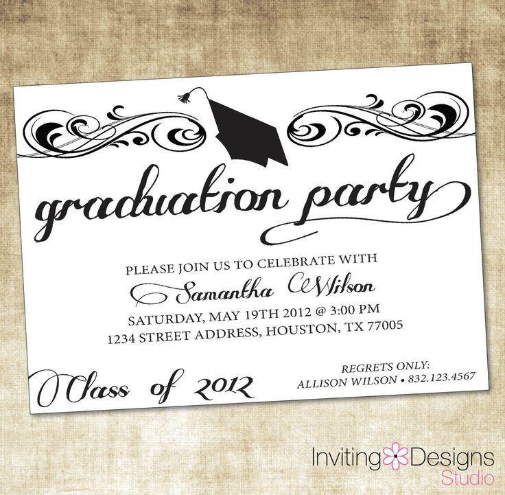 The 25+ best Graduation invitation templates ideas on Pinterest ...